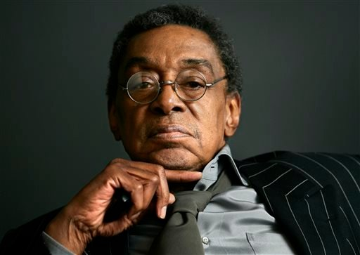 "This March 6, 2006 file photo shows Don Cornelius, the founder of ""Soul Train"" at his office in Los Angeles."