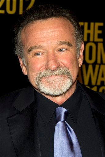 In this April 28, 2012 file photo, Robin Williams appears onstage at The 2012 Comedy Awards in New York.