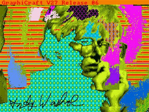 "This undated image provided by The Andy Warhol Museum in Pittsburgh, Pa., shows ""Andy2"", a piece that is thought to be made by the late pop artist, Andy Warhol, on a computer in 1985. (AP)"
