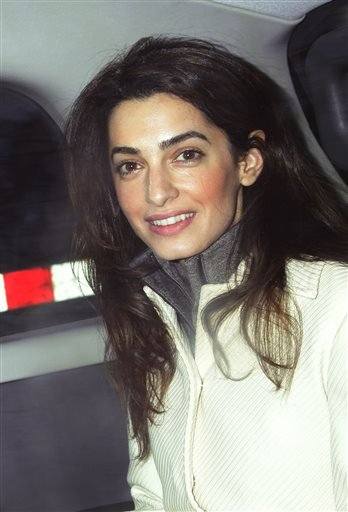 This Feb. 7, 2011 file photo shows human rights attorney Amal Alamuddin, in London.