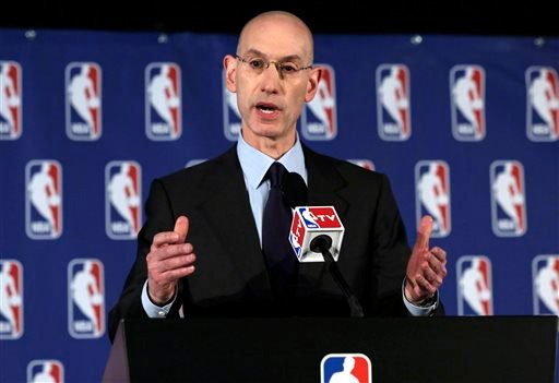 NBA Commissioner Adam Silver addresses the media during a news conference, in New York, Tuesday, April 29, 2014. (AP)