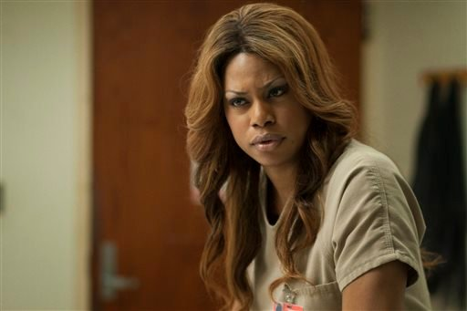 "This image released by Netflix shows Laverne Cox in a scene from ""Orange is the New Black."""