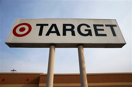 In this Tuesday, March 25, 2014 photo, a sign outside a Target store in Philadelphia is shown.