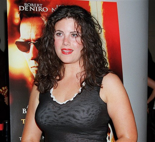 "In this July 11, 2001, file photo, Monica Lewinsky arrives for a special screening of ""The Score"" in New York. Lewinsky says there's no question her boss, Bill Clinton, ""took advantage"" of her when he was president."