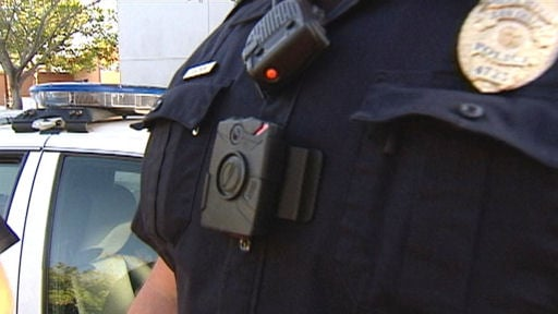 SDPD body camera mounted on chest