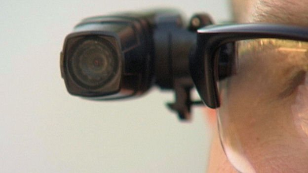 SDPD body camera mounted on glasses