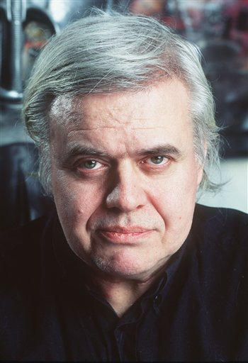 """In this 1995 file picture Swiss artist H.R. Giger is photographed at his house in Zurich, Switzerland. H.R. Giger, who designed the creature in Ridley Scott's sci-fi horror classic """"Alien,"""" has died at age 74 from injuries suffered in a fall."""