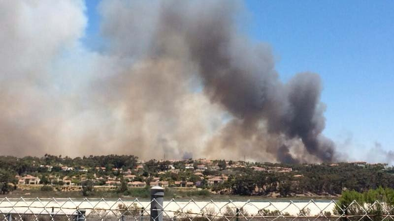 View from La Costa of Carlsbad Fire, May 15, 2014.
