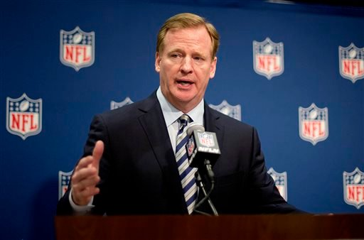 NFL Commissioner Roger Goodell speaks at a press conference at the NFL's spring meeting, Tuesday, May 20, 2014, in Atlanta. (AP Photo/David Goldman)