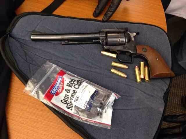 This is the gun that was taken from the student at Hilltop High Wednesday, according to the CVPD.