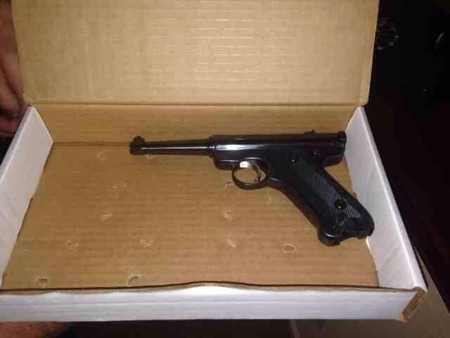 According to Chula Vista police, this gun was also found under the student's father's bed Wednesday.