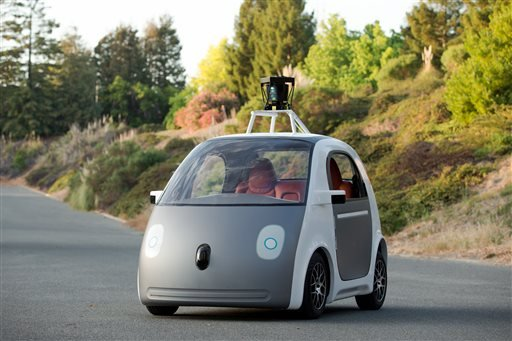 This image provided by Google shows a very early version of Google's prototype self-driving car. (AP)