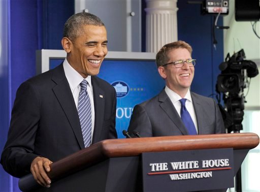 White House press secretary Jay Carney became the news instead of just delivering it Friday, when President Barack Obama unexpectedly interrupted the daily media briefing to announce Carney's resignation.