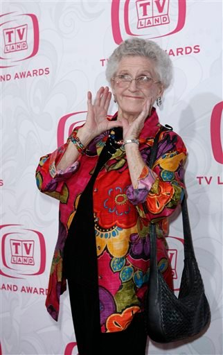 In this April 14, 2007, file photo, Ann B. Davis arrives at the 5th Annual TV Land Awards in Santa Monica, Calif.