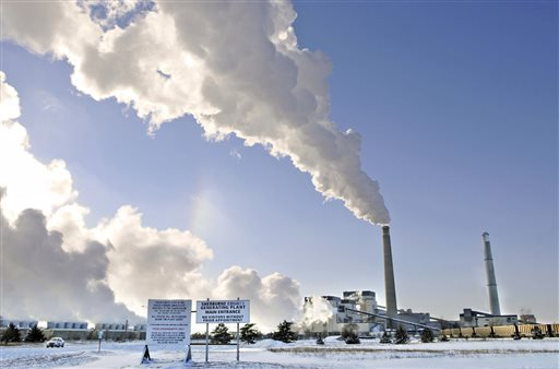 This Dec. 5, 2013, file photo shows the Sherco power plant in Becker, Minn.