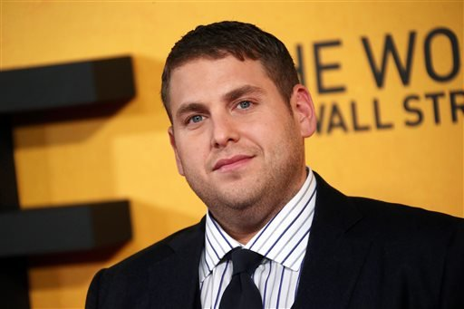 "FILE - This Jan. 9, 2014 file photo shows U.S actor Jonah Hill at the UK Premiere of ""The Wolf Of Wall Street,"" at a Leicester Square cinema in central London. (AP)"