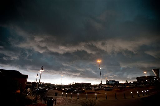 Storm clouds pass over Omaha, Neb., Tuesday, June 3, 2014.