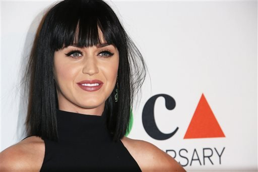 In this Saturday, March 29, 2014 file photo, Katy Perry arrives at MOCA's 35th Anniversary Gala presented by Louis Vuitton at The Geffen Contemporary at MOCA, in Los Angeles.