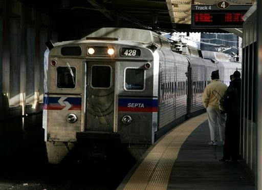 A SEPTA regional train, the R7, rolls into 30th Street station in Philadelphia in this Nov. 16, 2004 file photo.