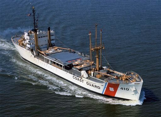 This circa 1966-68 photo released by the U.S. Coast Guard, and provided by the USCGC Courier/VOA Memorial Foundation shows the cutter Courier, then based in Yorktown, Va., after it was converted to a training vessel.