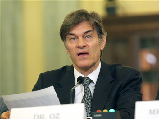 Dr. Mehmet C. Oz, chairman and Professor of Surgery, Columbia University College of Physicians and Surgeons, testifies on Capitol Hill in Washington, Tuesday, June 17, 2014. (AP)