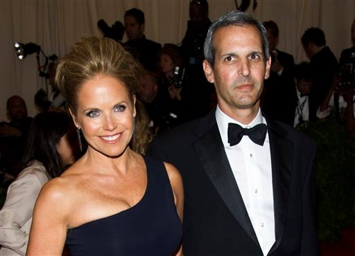 """In this May 6, 2013, file photo, TV personality Katie Couric, left, and John Molner attend The Metropolitan Museum of Art's Costume Institute benefit celebrating """"PUNK: Chaos to Couture"""" in New York."""