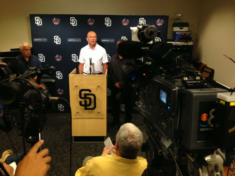 President & CEO of the San Diego Padres during a news conference June 22, 2014.