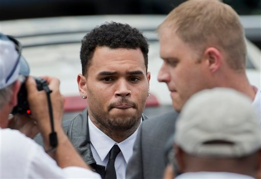 Singer Chris Brown arrives at the D.C. Superior Court, in Washington,Wednesday, June 25, 2014. (AP)