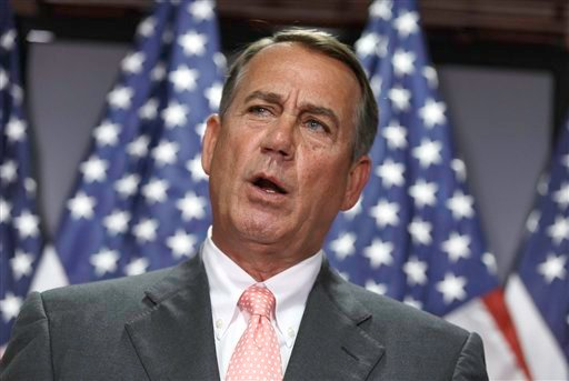 House Speaker John Boehner of Ohio meets with reporters on Capitol Hill in Washington, Tuesday, June 24, 2014. (AP)