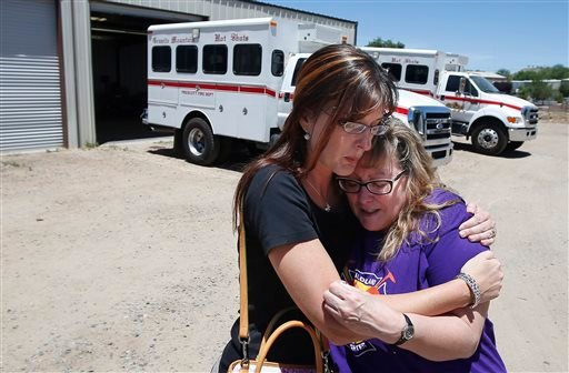 In this Tuesday, June 24, 2014 photo, in her first visit to the firehouse in Prescott, Ariz., since her son's death [...] (AP Photo/Ross D. Franklin)