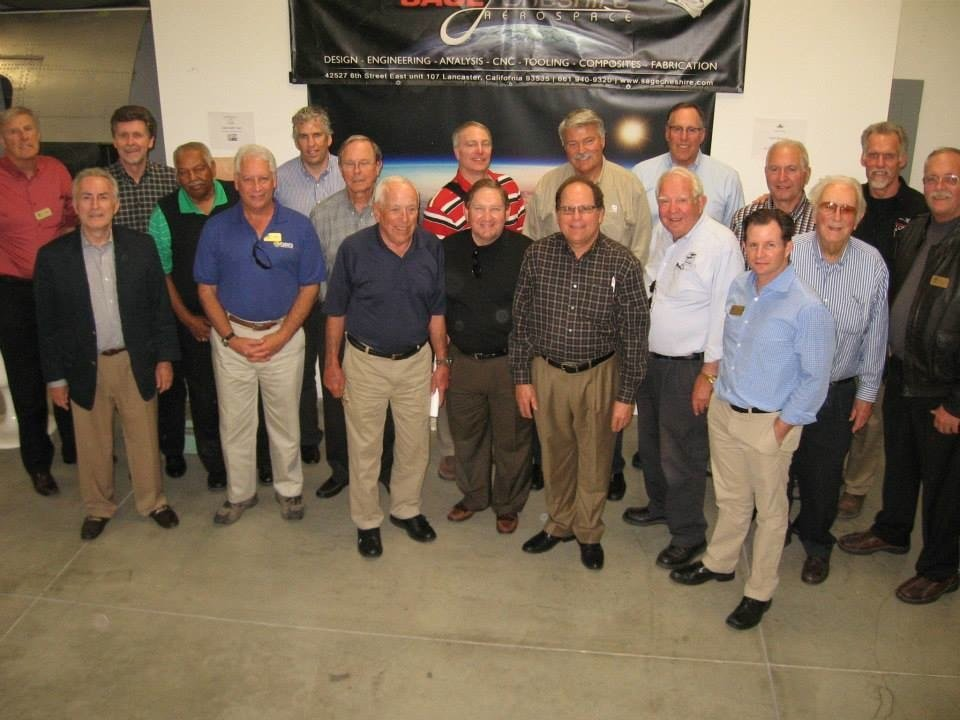 San Diego Air & Space Museum Board of Directors in Lancaster, CA with Art Thompson, VP Sage Cheshire Aerospace Courtesy: Timothy Prendergast