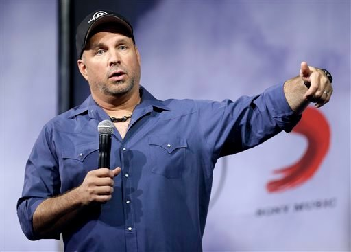 Country music star Garth Brooks speaks at a news conference on Thursday, July 10, 2014, in Nashville, Tenn.