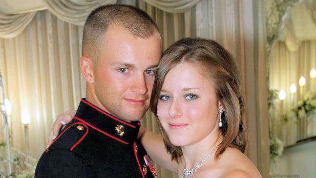 Cpl. Jonathan Corwin, 21, and wife Erin