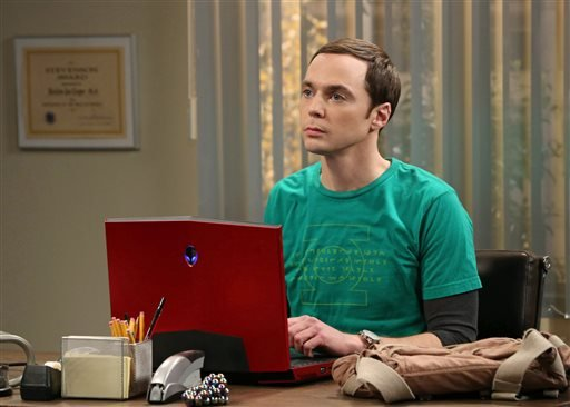 "This image released by CBS shows Jim Parsons in a scene from ""The Big Bang Theory."" (AP Photo/CBS, Michael Yarish)"