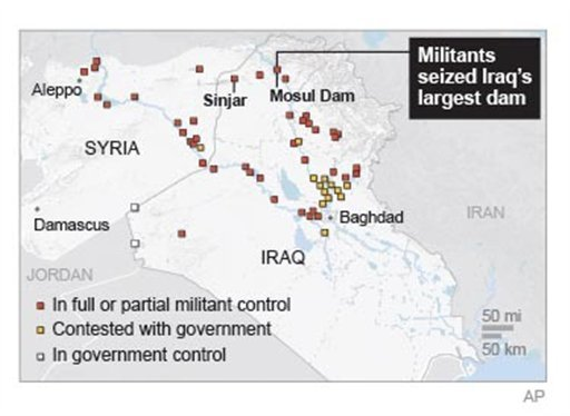 Map provides updates on violence in Iraq. (AP)