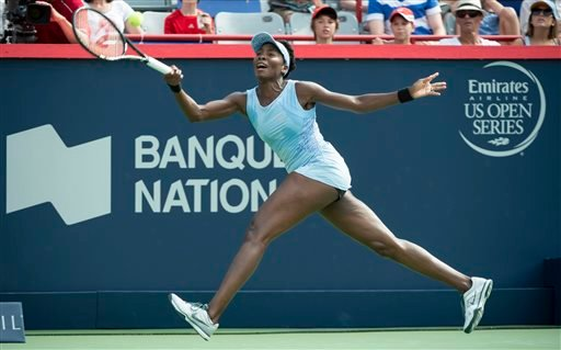 Serena and Venus set up an all-Williams semifinal in the Rogers Cup.