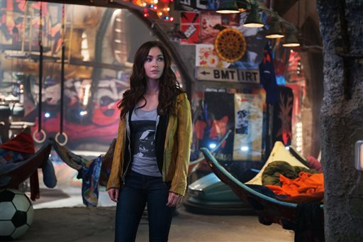 "This image released by Paramount Pictures shows Megan Fox in a scene from ""Teenage Mutant Ninja Turtles."" (AP Photo/Paramount Pictures, David Lee)"