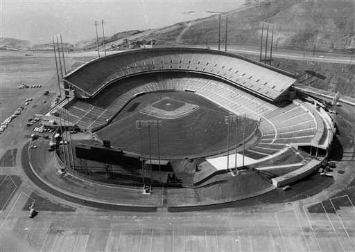 FILE - In this April 1, 1960 file photo, Candlestick Park is shown in San Francisco. (AP)