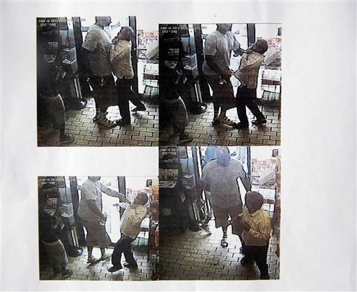 These images provided by the Ferguson Police Department show security camera footage from a convenience store in Ferguson, Mo., on Aug. 9, 2014, the day that Michael Brown was fatally shot by a police officer. (AP)