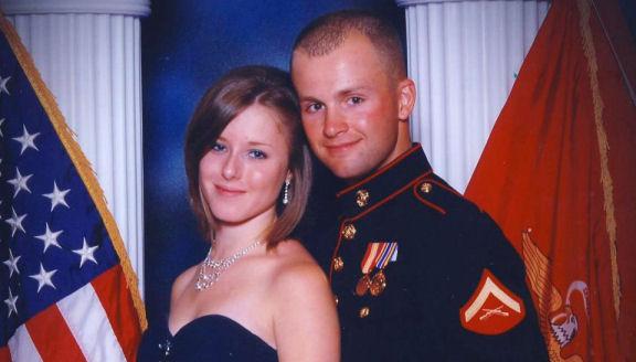 Erin Corwin, 19, and husband Cpl. Jonathan Corwin