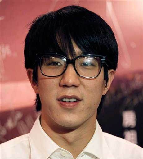 """In this June 14, 2010 file photo Hong Kong actor Jaycee Chan attends a premiere of his new film """" Break Up Club """" in Hong Kong."""