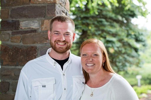FILE - This undated photo provided by Samaritan's Purse shows Dr. Kent Brantly and his wife, Amber. (AP Photo/Samaritan's Purse)