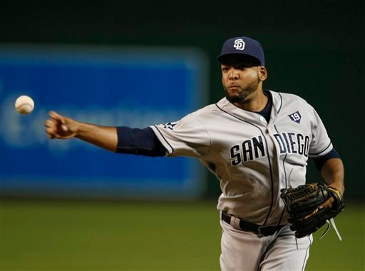 San Diego Padres starting pitcher Odrisamer Despaigne throws in the first inning during a baseball game against the Arizona Diamondbacks, Friday, Aug. 22, 2014, in Phoenix. (AP Photo/Rick Scuteri)