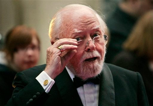 In this Wednesday, April 9, 2008 file photo, British actor and director Richard Attenborough arrives at the Galaxy British Book Awards in London.