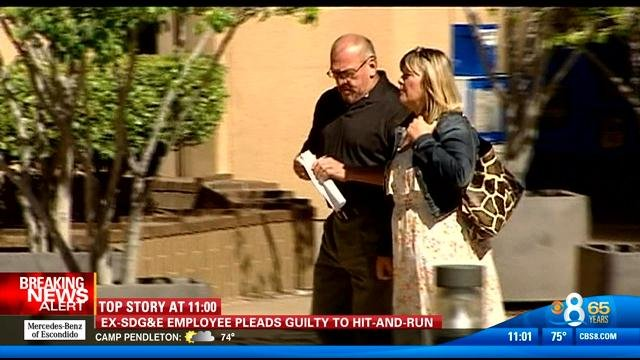 Cameras were not allowed in the courtroom Wednesday, September 3, 2014, but CBS News 8 caught video of Hector Hoyt outside of court. This is a video screen image from that video.