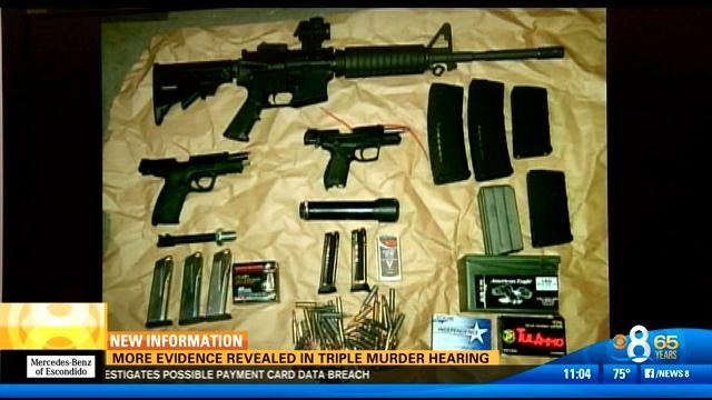 Cache of weapons discovered inside Mercado's vehicle, according to investigators.