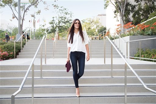 """This product image provided by Levi Strauss shows the company's waist band-less """"Perfectly Slimming Pull-On"""" jeans."""