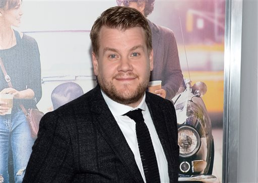 """This June 25, 2014 file photo shows James Corden at the New York premiere of """"Begin Again"""" in New York."""