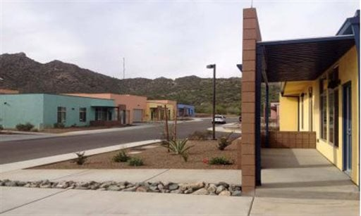 This undated photo provided by the Office of the Inspector General, Department of Homeland Security shows houses used by Border Patrol agents who live in Ajo, Ariz. (AP)