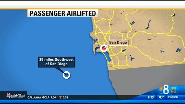 Sick Passenger Airlifted From Cruise Ship Cbs News 8